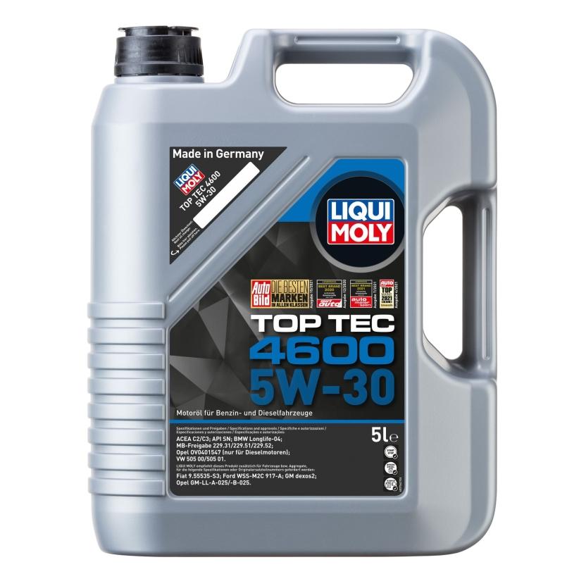 LIQUI MOLY 3756 Motoröl Top Tec 4600 5W-30 Kanister 5 L