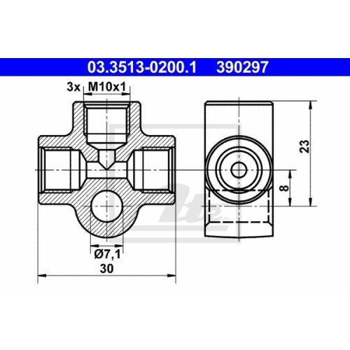 ATE Verbindungs-/Verteilerstück, Rohrleitungen